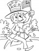 Celebrating independence day coloring pages