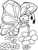 Butterfly sipping nectar coloring pages