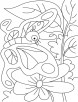Leave or flower-butterfly is everywhere coloring pages