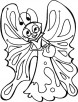 Butterfly carry nectar to which sector coloring pages