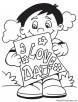 Fathers day card coloring page