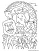 Group of animals coloring page