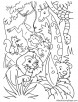 Lion king laughing in jungle coloring page