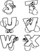 Mouse Alphabet Coloring Page