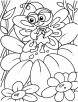 Thumbelina on flower coloring pages