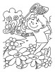 spring garden flowers coloring pages