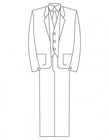 Three Piece Suit Coloring Pages Download Free Three