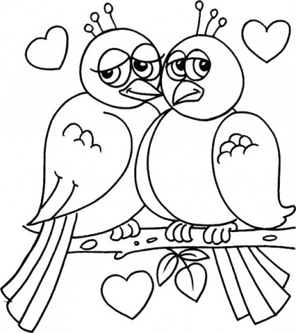 Kids Coloring Pages Coloring Pagesvalentine Kiss