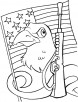 I am also protecting my country-Bald Eagle coloring page