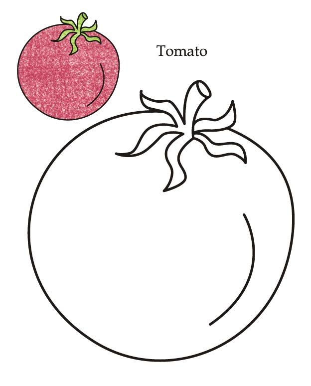0 Level tomato coloring page