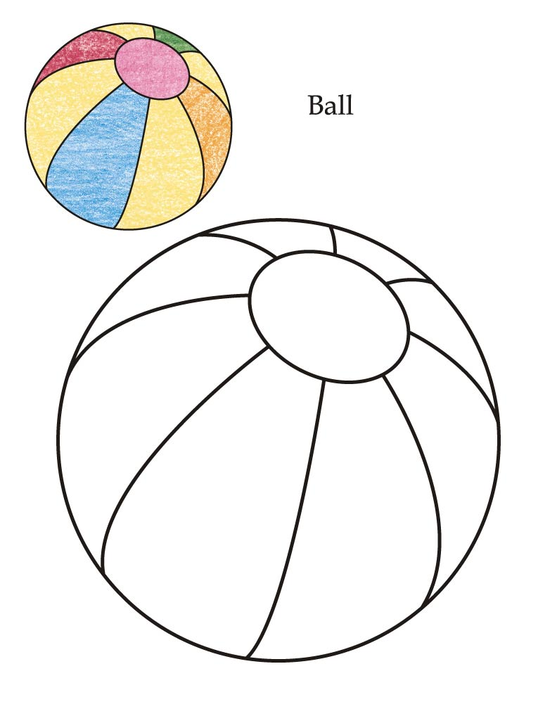 0 Level ball coloring page
