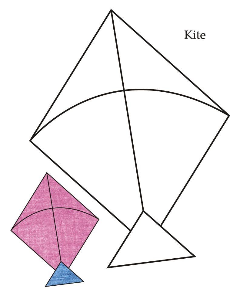 Kite Coloring Pages  How to Draw Kite Coloring Pages