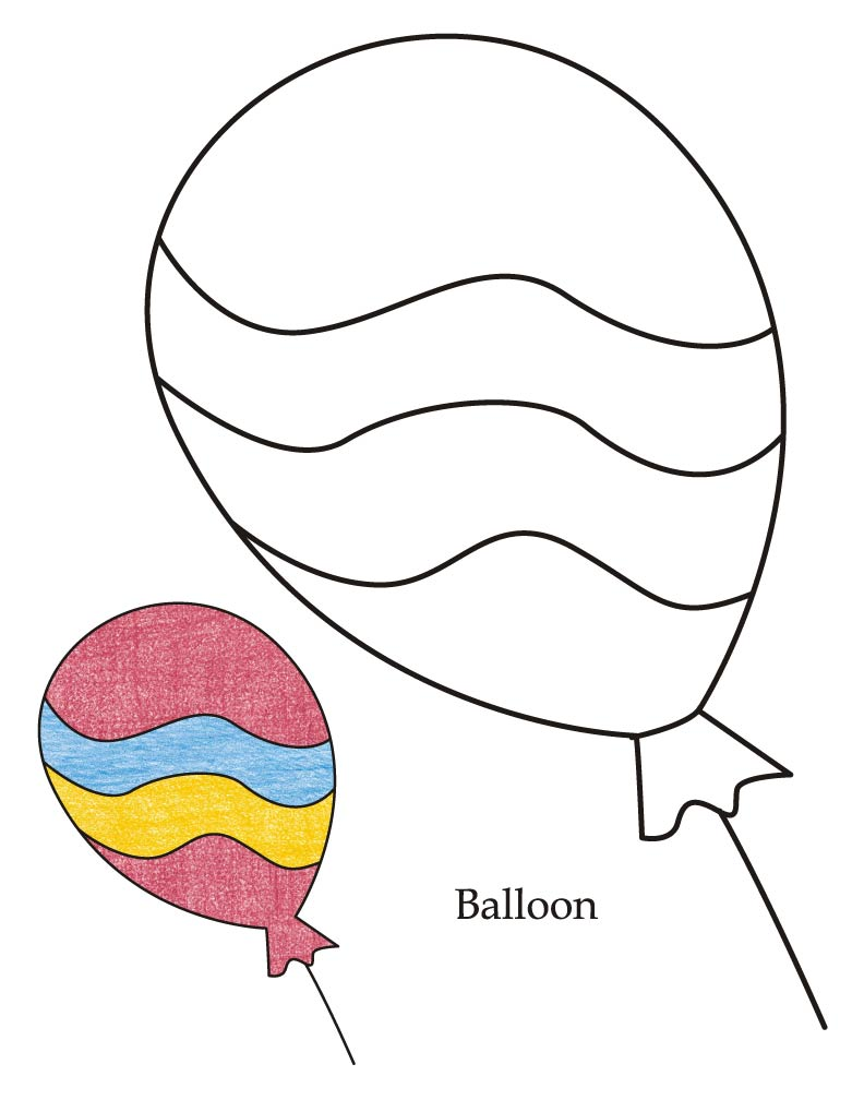 Balloon Coloring Pages 0 Level Balloon Coloring Page  Download Free 0 Level Balloon