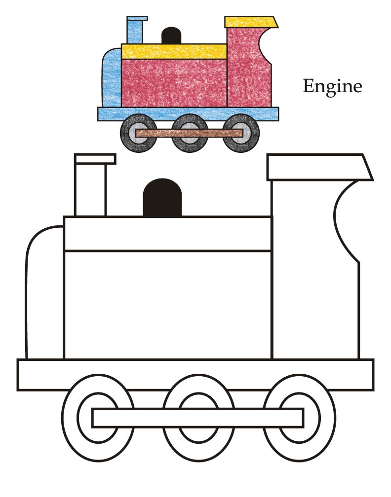 0 Level engine coloring page