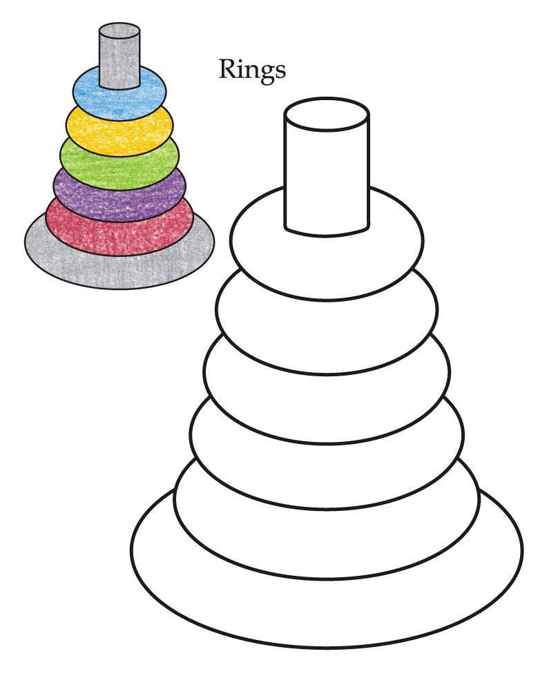 0 Level rings coloring page