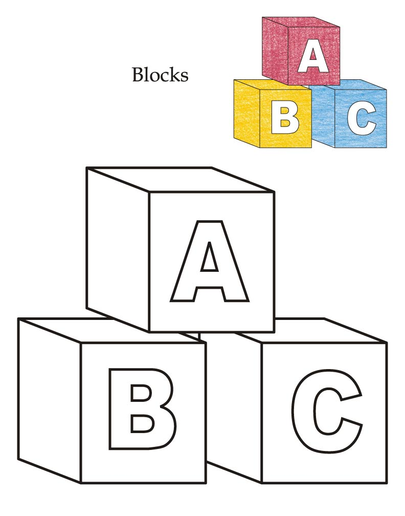 coloring pages building block - photo#3