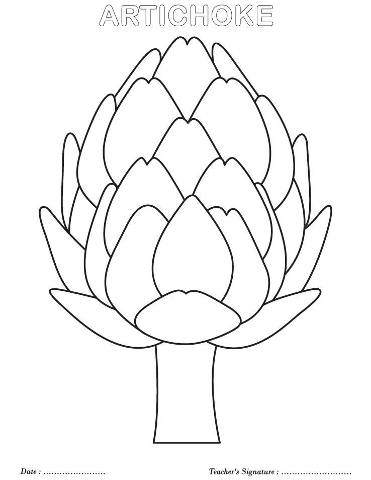 Artichoke coloring page Download Free Artichoke coloring
