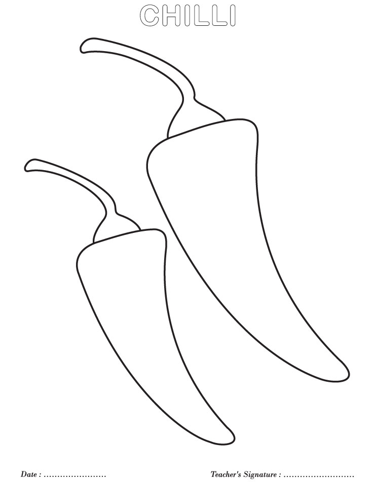 Chilli coloring page