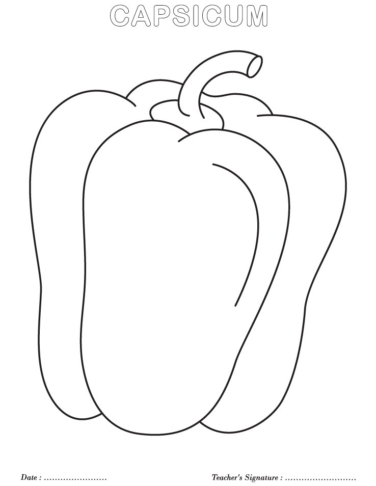 Capsicum coloring page