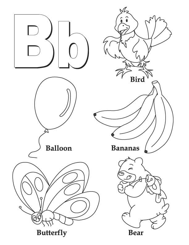 b words coloring pages - photo #5