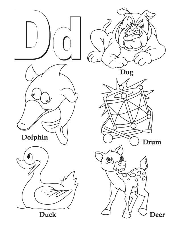 My A to Z Coloring Book Letter D coloring page Download Free My
