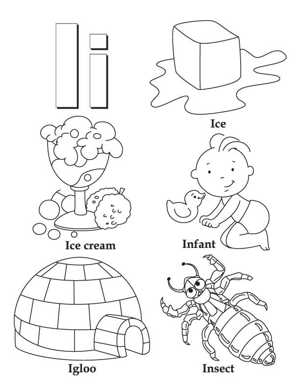 My A To Z Coloring Book Letter I Coloring Page Download A To Z Coloring Pages