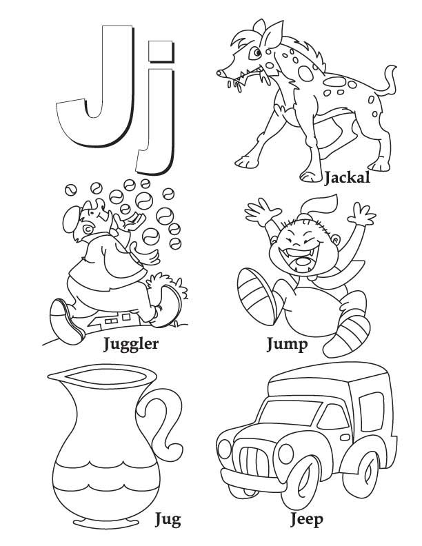My A to Z Coloring Book Letter J coloring page Download Free My