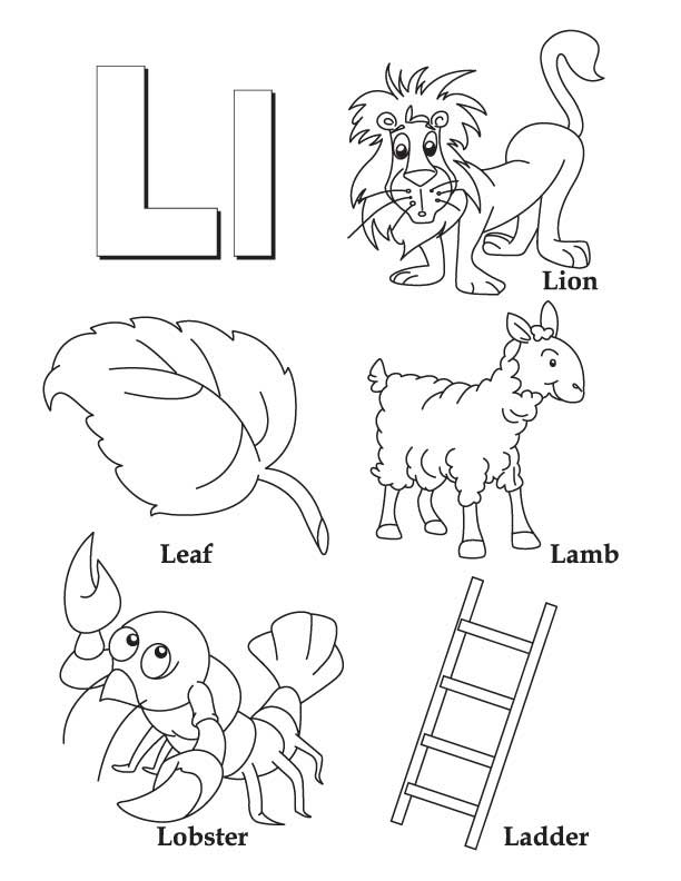 my a to z coloring book letter l coloring page