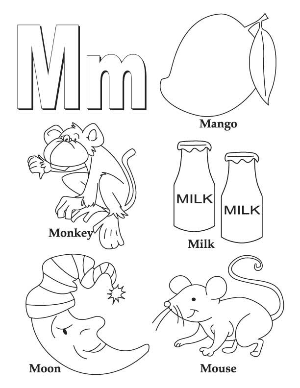 My A to Z Coloring Book Letter M coloring page | Download Free My A to ...