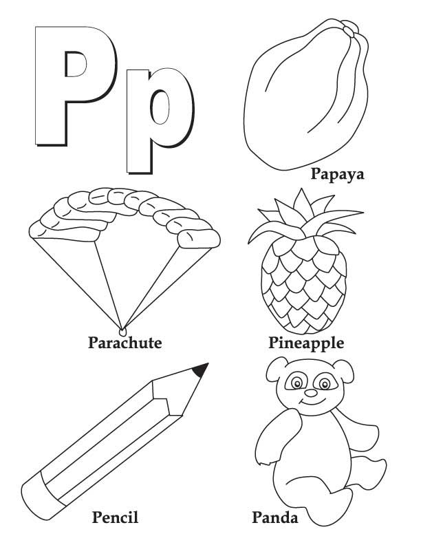 p coloring pages for kids - photo #5