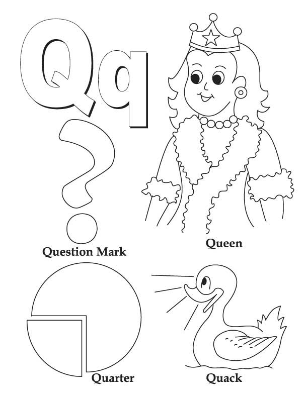 My A to Z Coloring Book Letter Q coloring page – Letter Q Worksheets