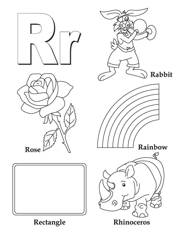 R Coloring Pages : My a to z coloring book letter r page download