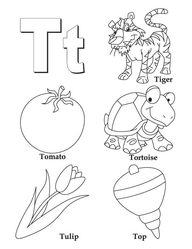 My A to Z Coloring Book Letter T coloring page  Download Free My