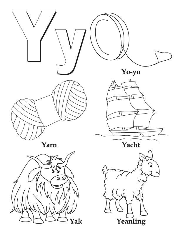 Boxed Capital Letter Y Coloring Pages Coloring Pages Y Coloring Pages
