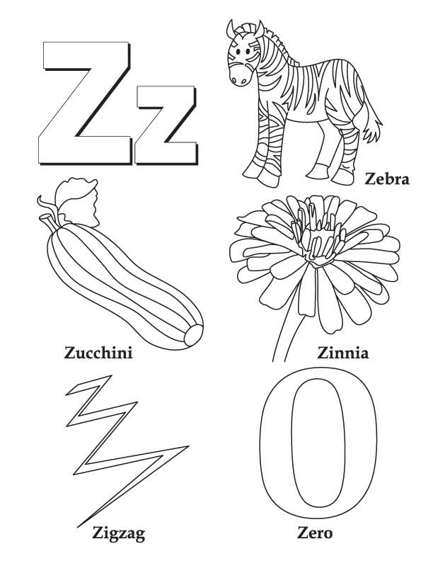 z coloring book pages - photo #1