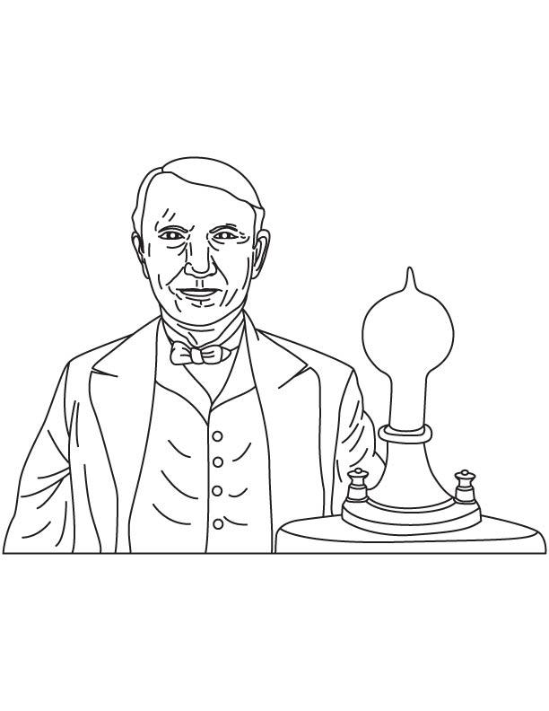 Thomas Alva Edison coloring page