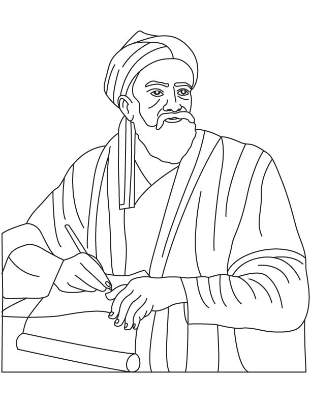 Abu Rayhan Al-Biruni coloring pages