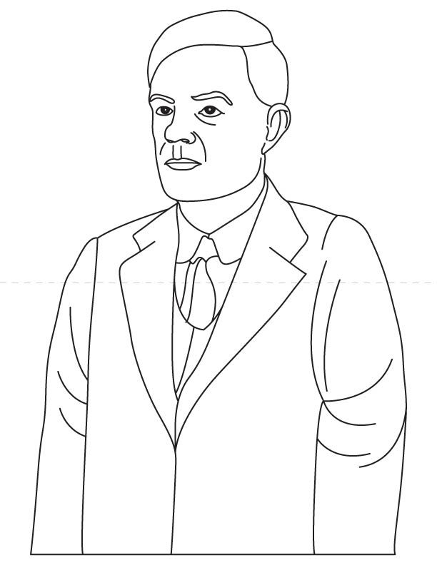Alan Turing coloring pages