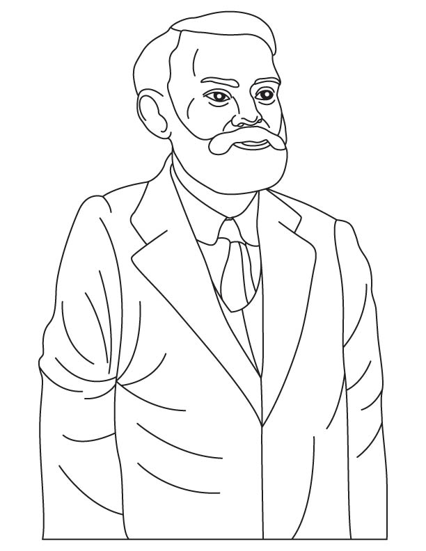 Alfred Bernhard Nobel coloring pages