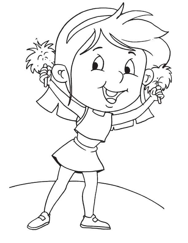 cheerleaded coloring pages - photo#24