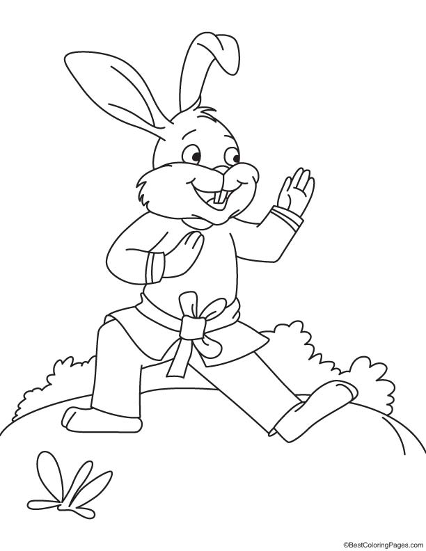 Free Coloring Pages Of Karate Kid