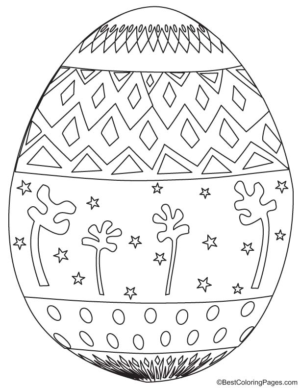 Easter egg coloring page 10