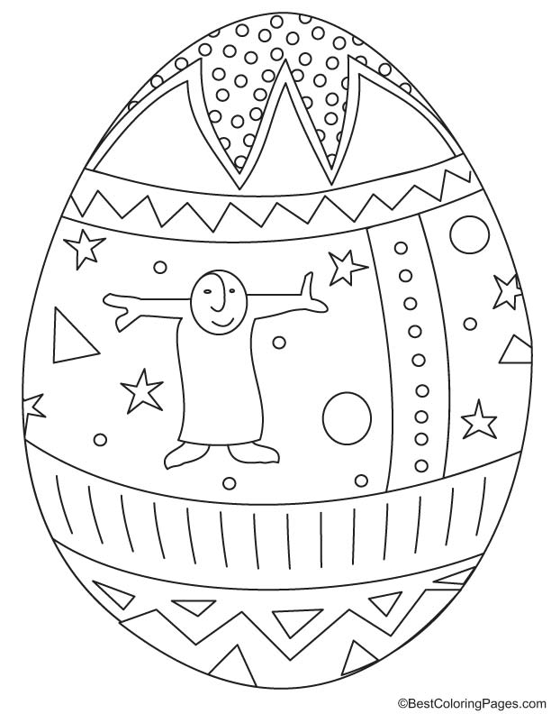 Easter egg coloring page 9