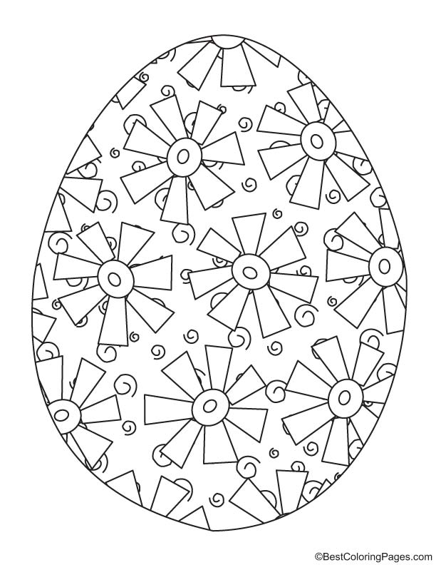 Easter egg coloring page 8
