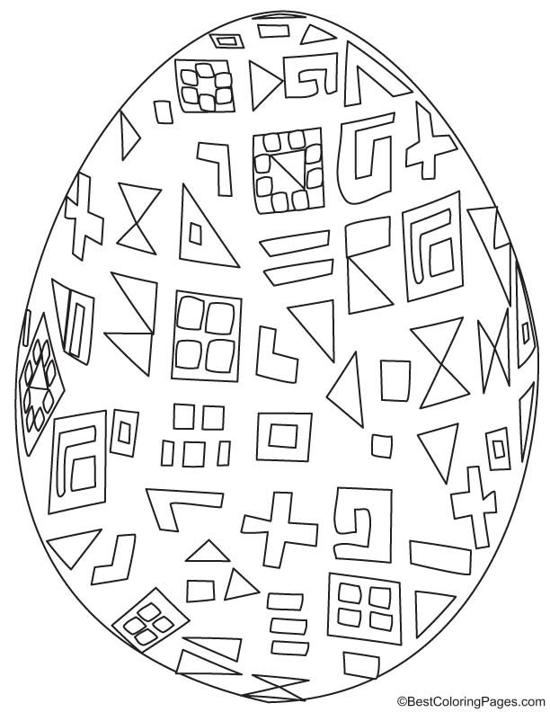 Easter egg coloring page 5