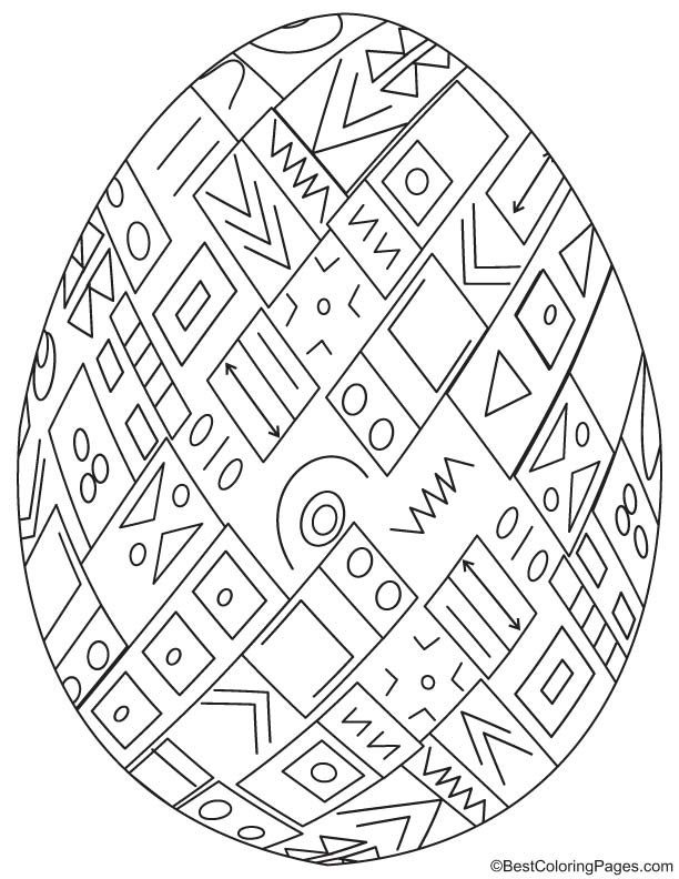 Easter egg coloring page 4