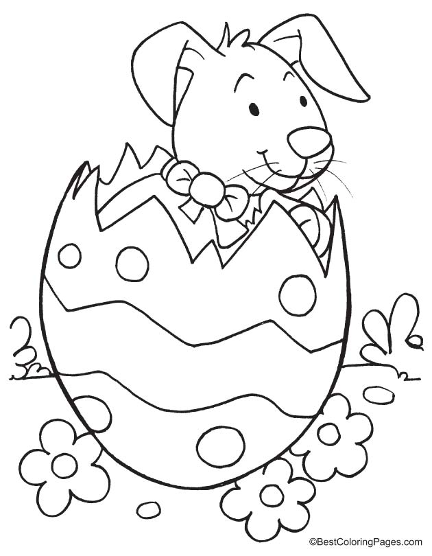 Easter coloring page to print