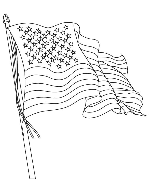 The American Flag Coloring Page
