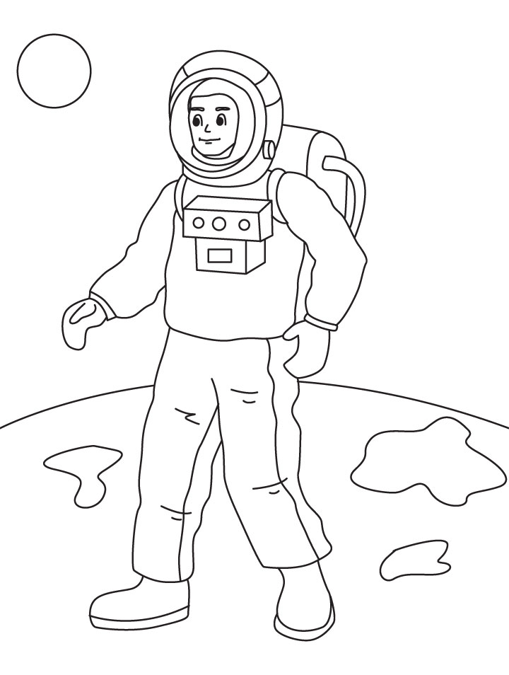 Astronauts coloring page