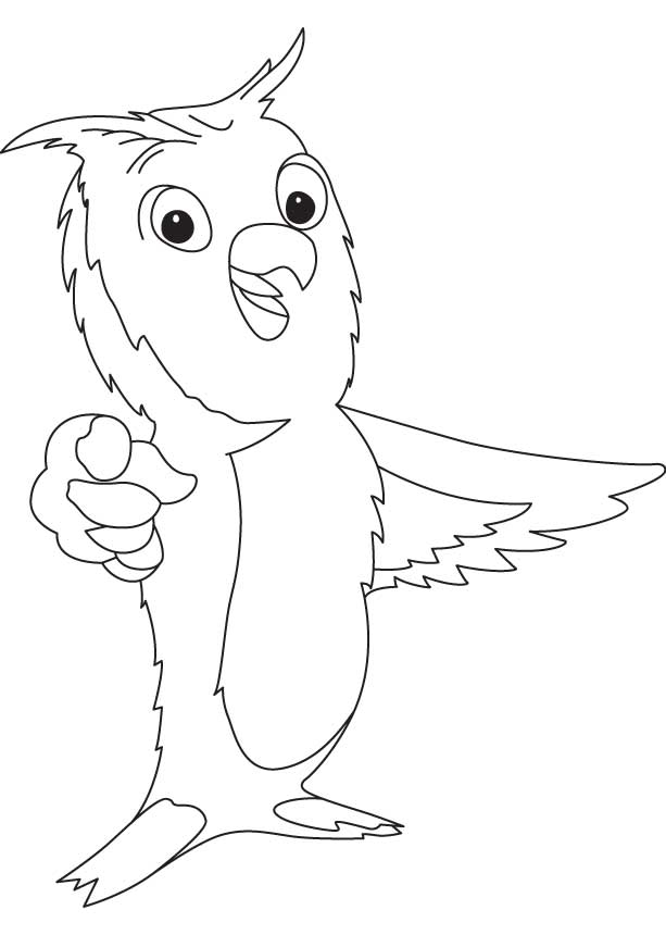 Burrowing owl coloring page